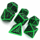 Green & Black Celtic 3D Dice Set